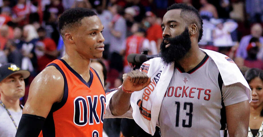 >>> Click through to see where the Houston Rockets rank among the NBA the teams most likely to trade for Oklahoma City Thunder star Russell Westbrook, according to Odds Shark. Photo: Michael Wyke/Associated Press