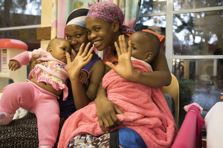 African mother happy to receive care for her babies. Photo: Texas Childrens Hospital
