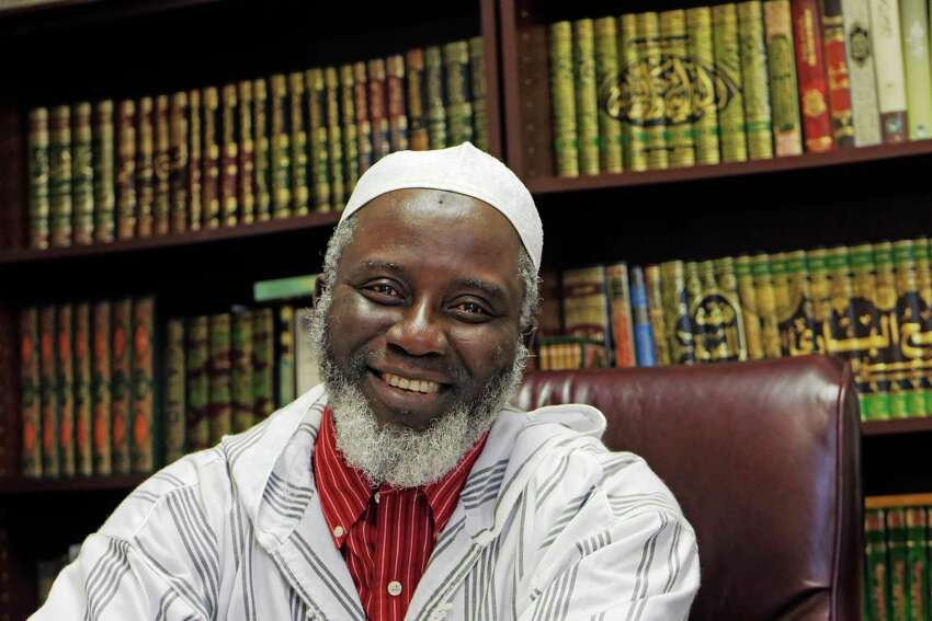 Imam Abdul-Rahman Yaki poses in his office at the Islamic Center of the Capital District on Wednesday, April 4, 2018, in Colonie, N.Y. (Paul Buckowski/Times Union)