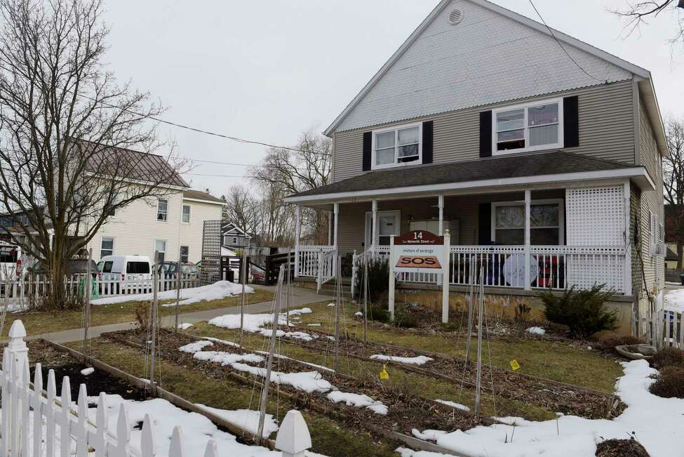 A view of the two buildings that are part of the Shelters of Saratoga, seen here on Thursday, March 22, 2018, in Saratoga Springs, N.Y. (Paul Buckowski/Times Union)