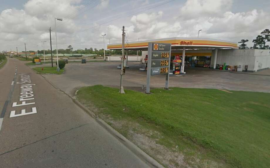 A man was shot to death and driven to a Channelview gas station Friday night, and police are still looking for the person responsible. Photo: Google Maps