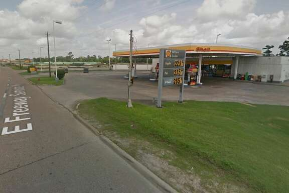 A man was shot to death at a Channelview gas station Friday night, and police are still looking for the person responsible.