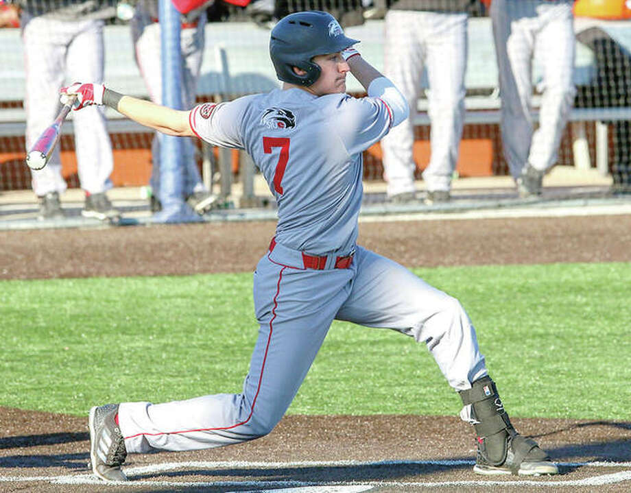 SIUE's Jared McCunn had a home run and a double in his team's double header loss at Eastern Kentucky University Friday in Richmond, Ky. Photo: SIUE Athletics
