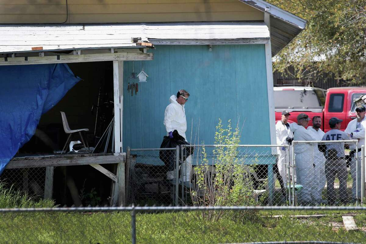 PFLUGERVILLE, TX - MARCH 22: Law enforcement officials continue their investigation at the home of Mark Anthony Conditt March 22, 2018 in Pflugerville, Texas. Conditt, the 23-year-old suspect in the Austin package bombings, blew himself up inside his SUV as police tried to take him into custody yesterday in the nearby city of Round Rock. A massive search for the bomber had been underway by local and federal law enforcement officials in Austin and the surrounding area after several package bombs had detonated in recent weeks, killing two people and injuring several others.