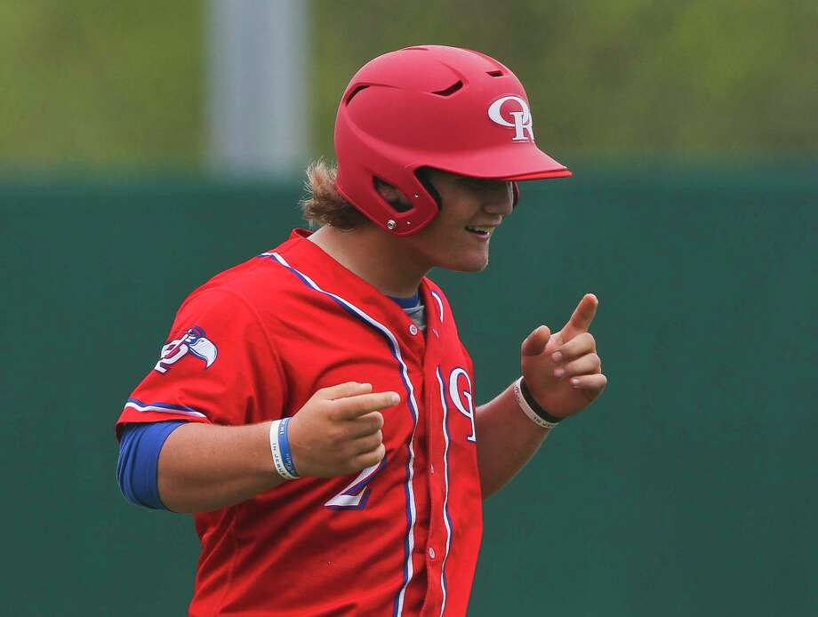 Owen Dubois #2 of Oak Ridge reacts after grounding out to Montgomery second baseman Ben Shields during the third inning of a District 12-6A high school baseball game, Saturday, March, 24, 2018, in Montgomery. Oak Ridge defeated Montgomery 12-8. Photo: Jason Fochtman, Staff Photographer / © 2018 Houston Chronicle