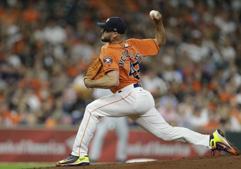 Houston Astros Lance McCullers Jr. pitches against the San Diego Padres during the first inning of MLB game at Minute Maid Park Friday, April 6, 2018, in Houston. ( Melissa Phillip / Houston Chronicle ) Photo: Melissa Phillip/Houston Chronicle