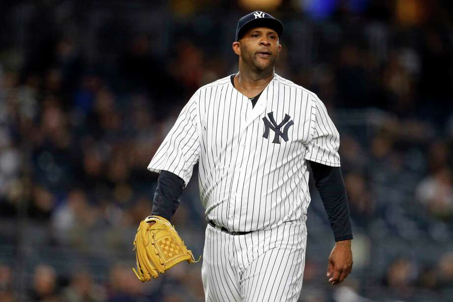 NEW YORK, NY - APRIL 6: CC Sabathia #52 of the New York Yankees reacts walking back to the dugout against the Baltimore Orioles during the second inning at Yankee Stadium on April 6, 2018 in the Bronx borough of New York City. (Photo by Adam Hunger/Getty Images) Photo: Adam Hunger / 2018 Getty Images