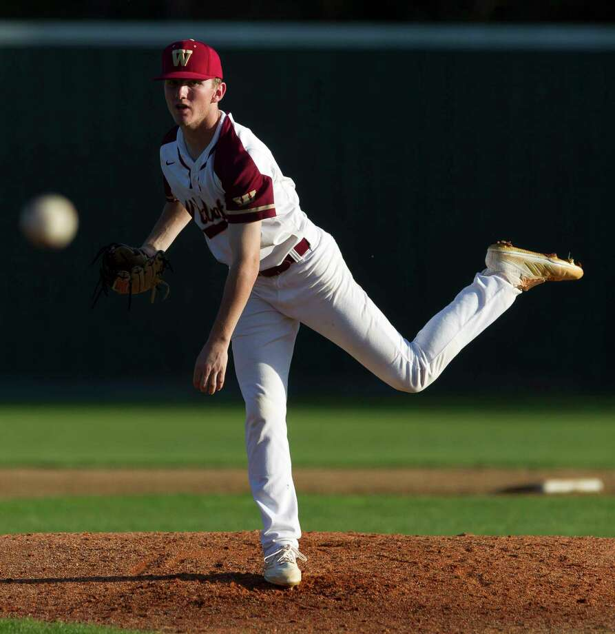 Cypress Woods starting pitcher Dylan Bourgeois (17)  throws in the third inning of a high school baseball game during the Ferrell Classic at Conroe High School, Friday, March 2, 2018, in Conroe. Photo: Jason Fochtman, Staff Photographer / © 2018 Houston Chronicle
