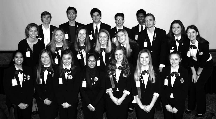 Members of the Edwardsville High School Health Occupations of America group at the state competition in Decatur. Photo: For The Intelligencer