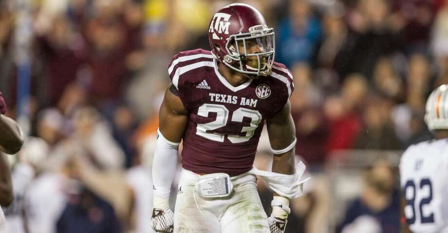 Texas A&M safety Armani Watts worked out for the Texans at their local prospect workout Saturday. Photo: Glen Johnson/Texas A&M Athletics