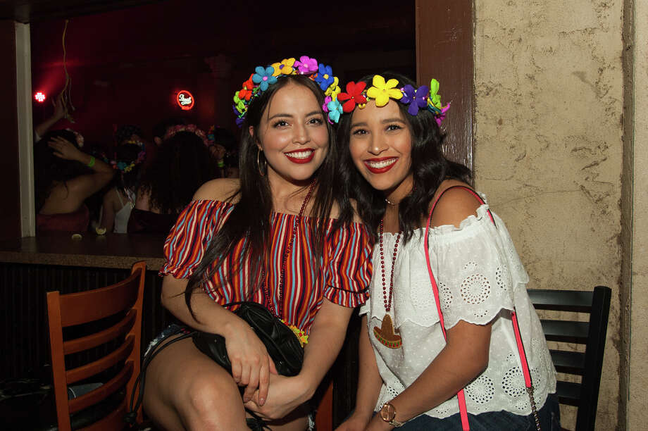 Pub Run San Antonio got into the Fiesta spirit during its First Friday Pub Run April 7, 2018, which saw participants running through downtown streets in their best Fiesta. Each month the group presents a themed pub run to coincide with First Friday. Photo: Aiessa Ammeter For MySA