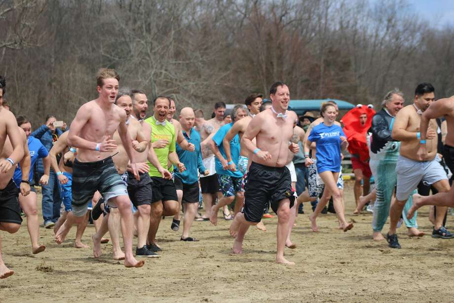 The 2018 Plunge in The Park took place at Great Hollow Lake in Wolf Park in Monroe on April 7, 2018. Brave plungers ran into the lake to raise money for the Special Olympics. Were you SEEN? Photo: Courtney M. Lewis