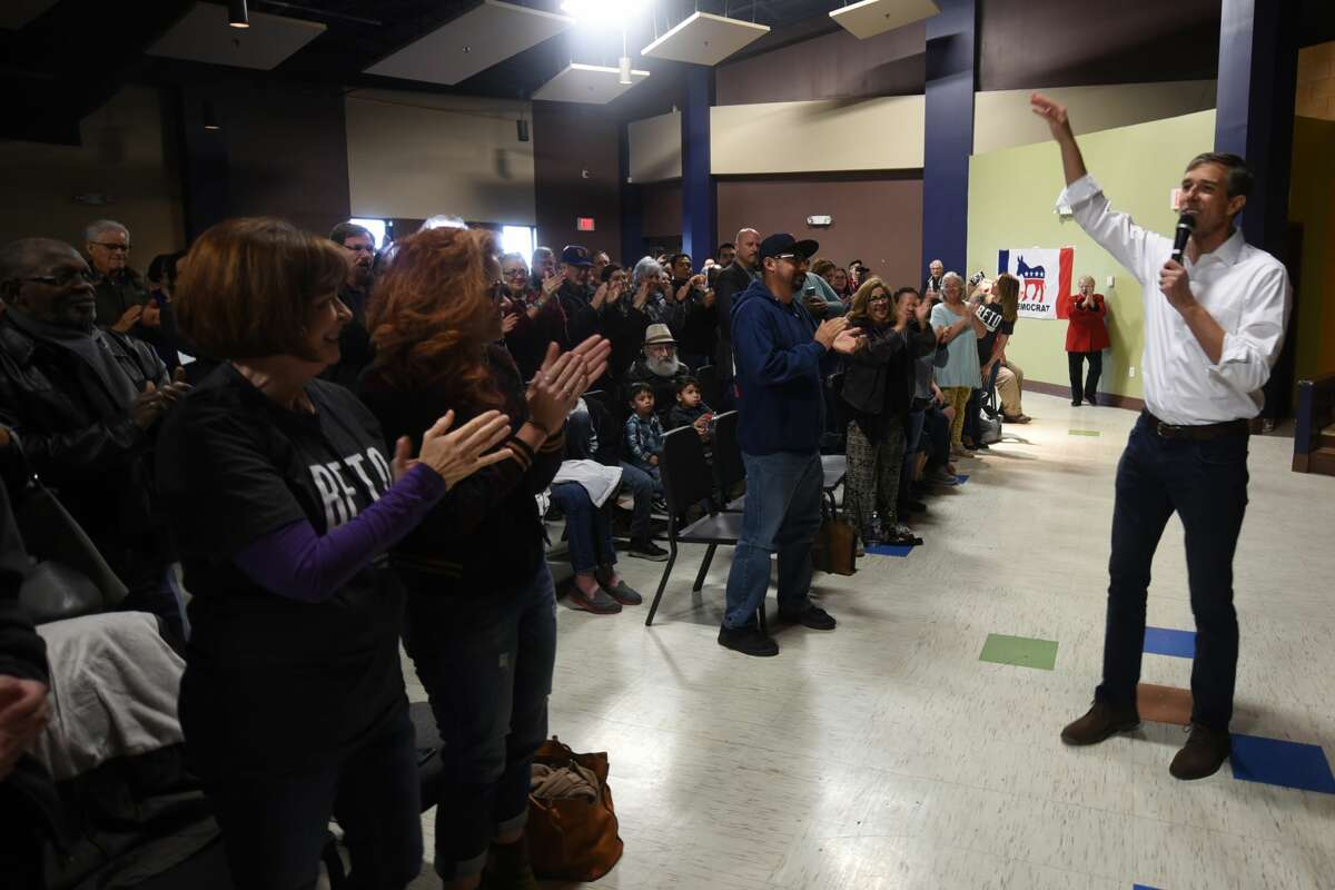 Beto O'Rourke, US Representative from El Paso, stopped in Midland on his campaign for US Senate, April 7, 2018, at the MLK Center. James Durbin/Reporter-Telegram