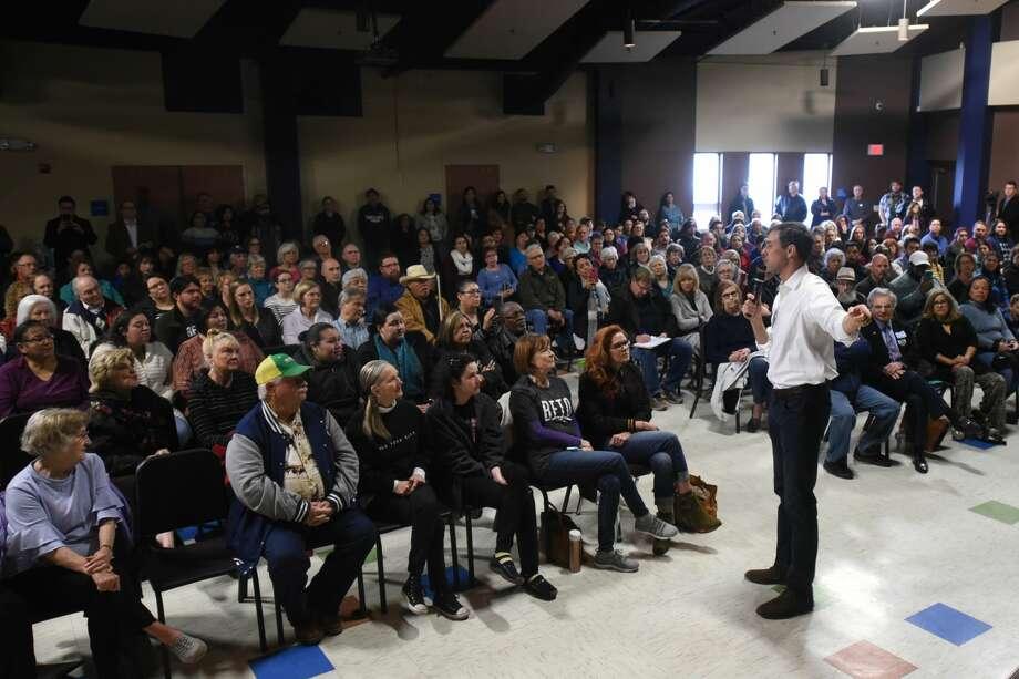 Beto O'Rourke, US Representative from El Paso, stopped in Midland on his campaign for US Senate, April 7, 2018, at the MLK Center.  James Durbin/Reporter-Telegram Photo: James Durbin