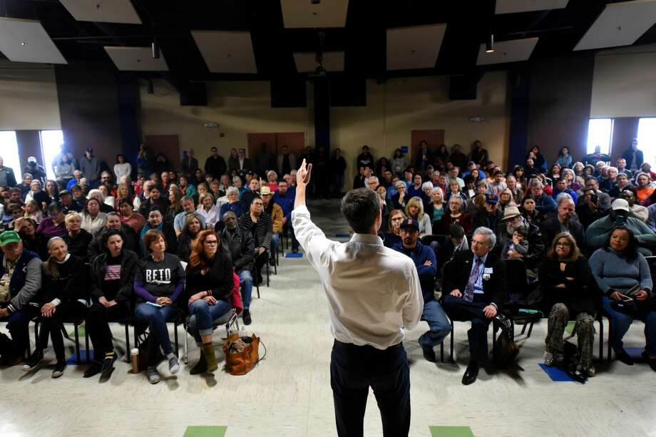 Beto O'Rourke, US Representative from El Paso, stopped in Midland on his campaign for US Senate, April 7, 2018, at the MLK Center.  James Durbin/Reporter-Telegram Photo: James Durbin