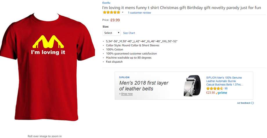 A Texas mom went viral after accidentally sending her son to school in a lewd shirt similar to the one in this image.>> See parenting hacks to make the school year easier. Photo: Amazon.com Screen Shot