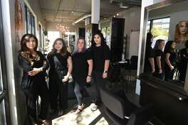Halo Hair and Beauty Bar located in the Wall Street Loft building downtown April 7, 2018. James Durbin/Reporter-Telegram