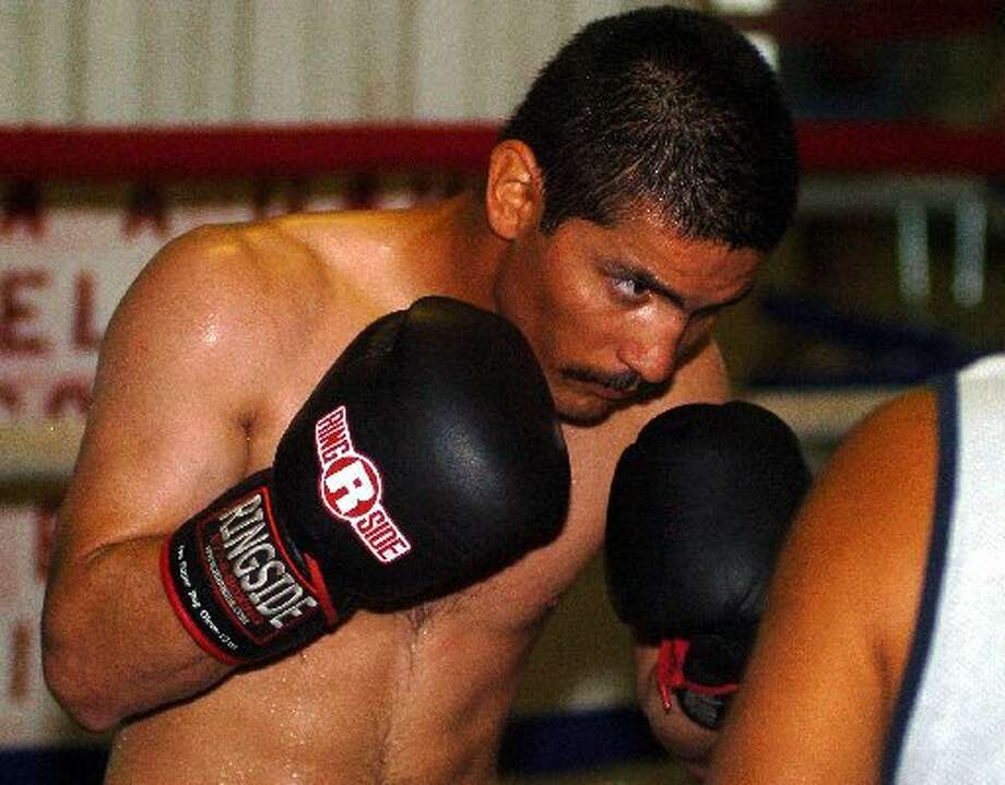 Local boxer Tomas Villa is shown here in training in this 2010 MRT file photo.