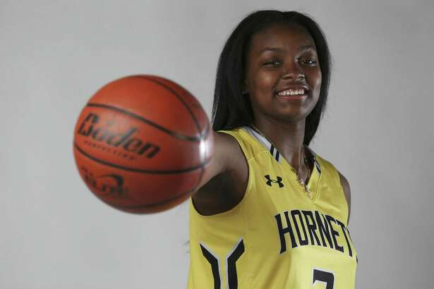 East Central's NaLyssa Smith is the Girls Player of the Year for the 2018 Express-News All-Area Super Team. (Kin Man Hui/San Antonio Express-News)