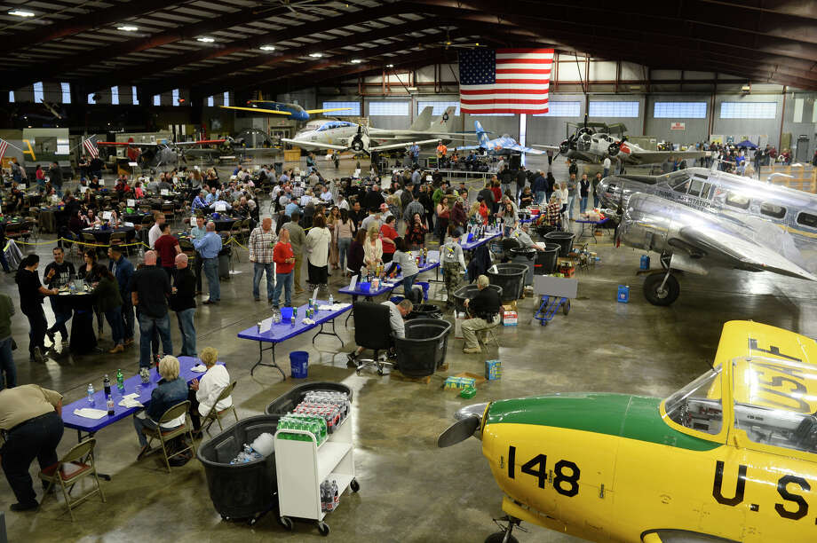Hops and Props fundraiser for the CAF High Sky Wing and Midland Army Airfield Museum, April 7, 2018.  James Durbin/MRT Media Group Photo: James Durbin