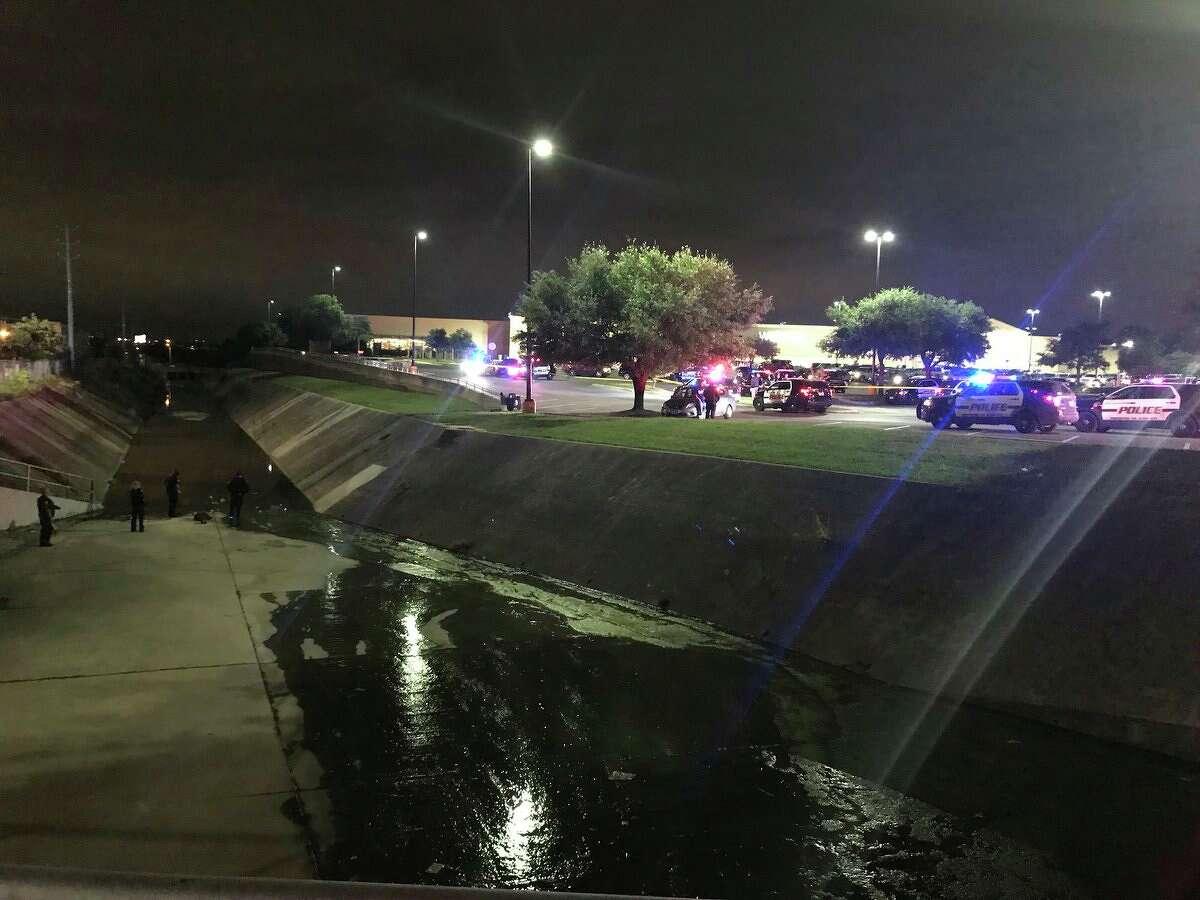 San Antonio police investigate a shooting near a Walmart in the 8500 block of Jones Maltsberger Road Saturday, April 7, 2018.