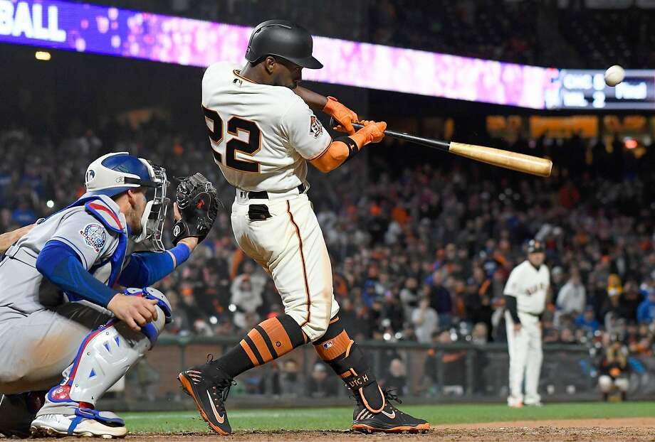 The Giants' Andrew McCutchen hits a walk-off three-run homer in the bottom of the 14th inning to defeat the Dodgers. Photo: Thearon W. Henderson / Getty Images