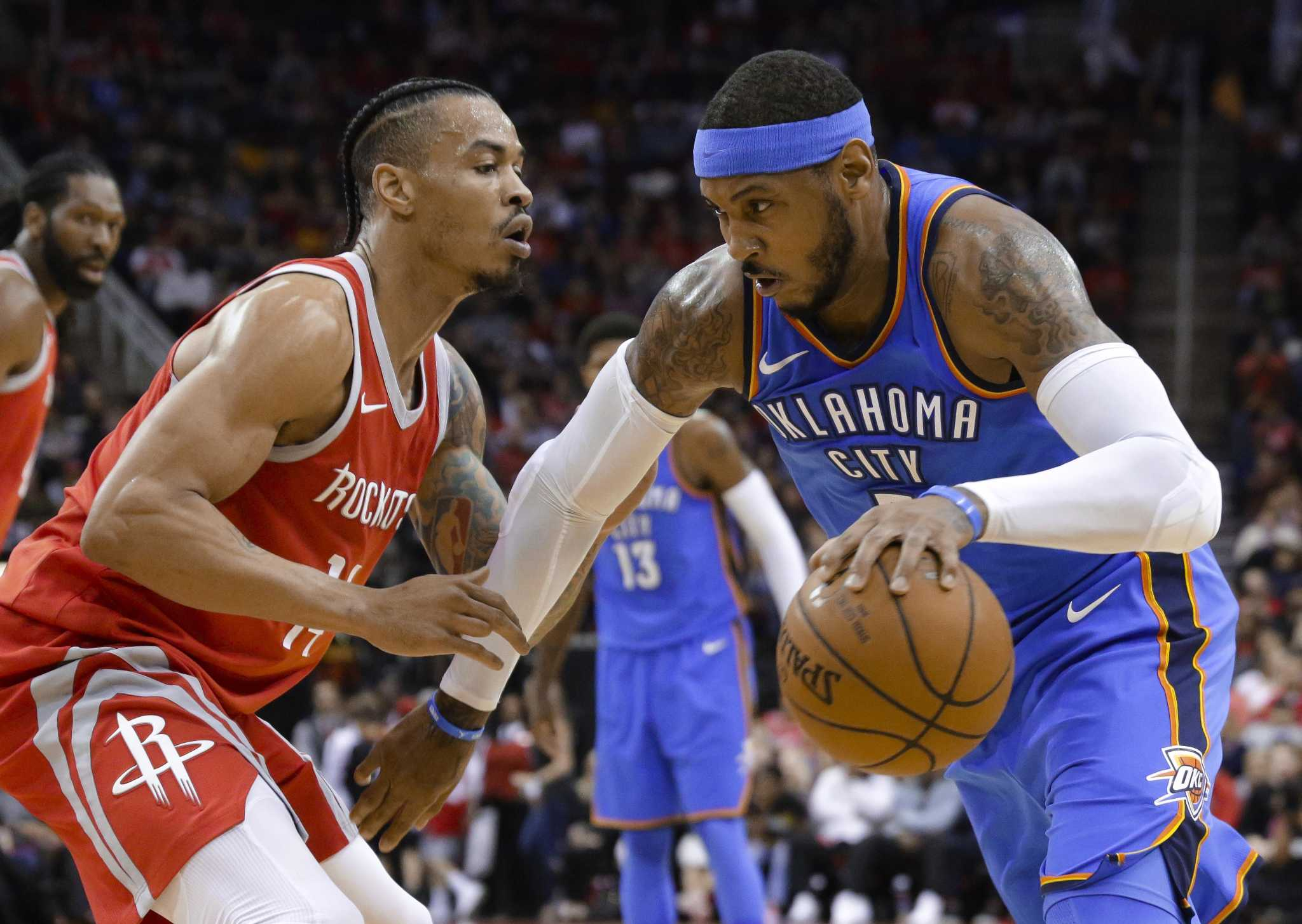b337275f10a4 How Carmelo Anthony would fit with the Rockets - HoustonChronicle.com