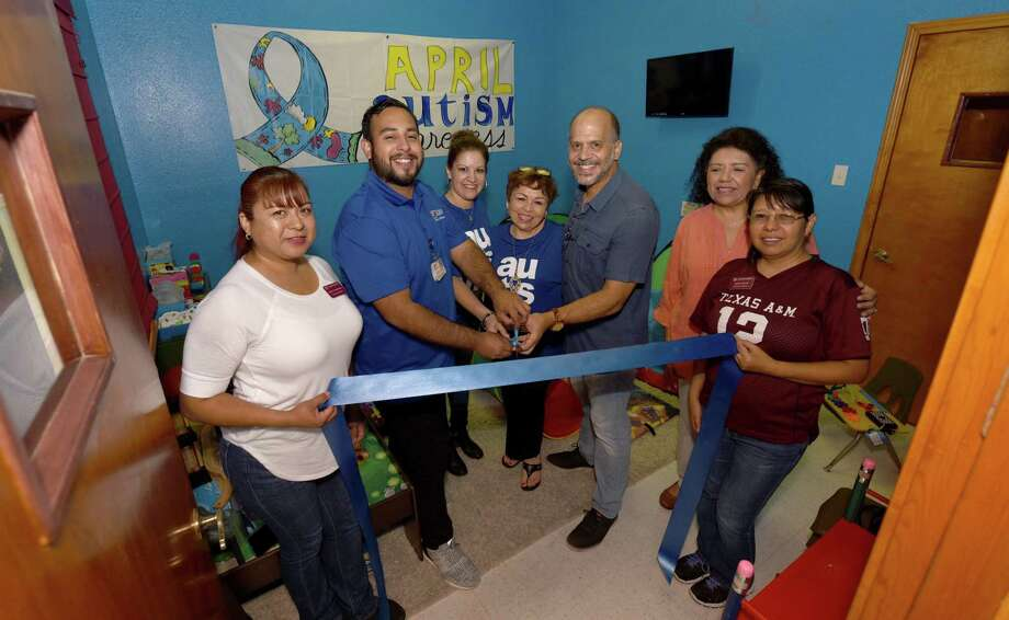Community members participate in the ribbon cutting for United Baptist Church's Autism Room sponsored by Driscoll Health Plan. Photo: Danny Zaragoza /Laredo Morning Times / Laredo Morning Times