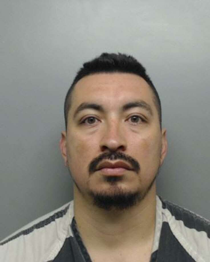 David Villarreal, 32, arrested on suspicion of sexually assaulting a woman, tampering with physical evidence and official oppression. Photo: Webb County Sheriff's Office