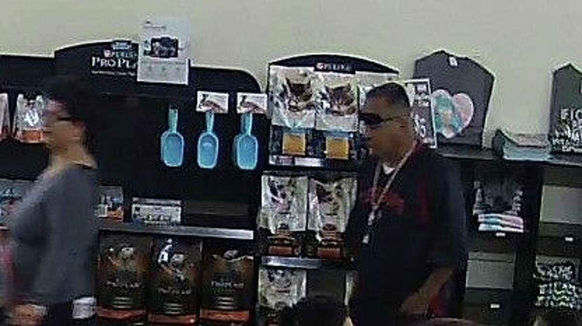 The San Antonio Humane Society posted surveillance images to their Facebook page of a couple they say walked off from their shelter with one of their dogs Saturday, April 8, 2018. The dog was returned Sunday.