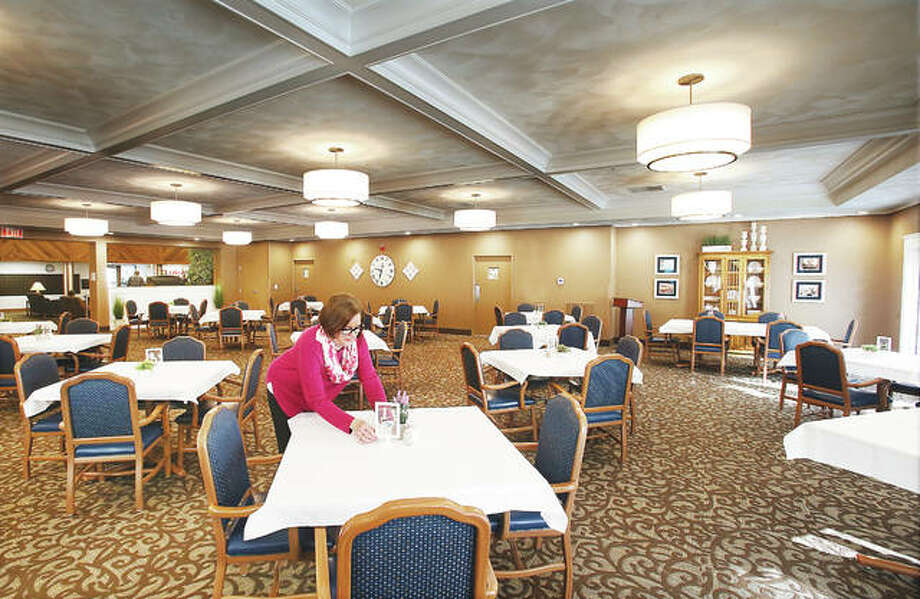 The dining room at Villa Rose Senior Living Community on South Moreland Road in Bethalto has been completely remodeled. Photo: John Badman | The Telegraph