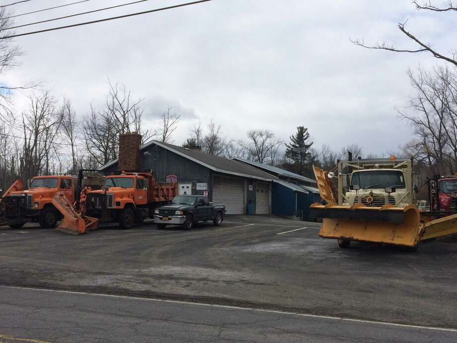 TNT Landscaping, Excavation & Blacktopping at 117 Morris Road in Colonie, where a 61-year-old man was killed after being crushed between two pieces of equipment Saturday, April 7, 2018. (Lauren Stanforth/Times Union)