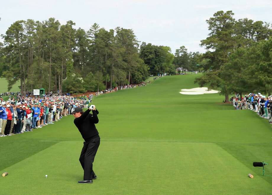 AUGUSTA, GA - APRIL 08:  Phil Mickelson of the United States plays his shot from the eighth tee during the final round of the 2018 Masters Tournament at Augusta National Golf Club on April 8, 2018 in Augusta, Georgia.  (Photo by Andrew Redington/Getty Images) Photo: Andrew Redington / 2018 Getty Images