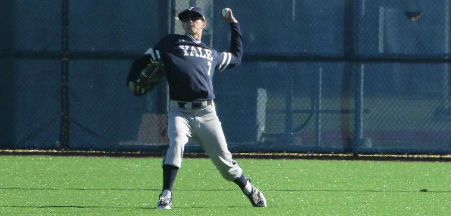 Former Amity star Teddy Hague is having strong first season on Yale baseball team. Photo: Courtesy Of Yale Athletics