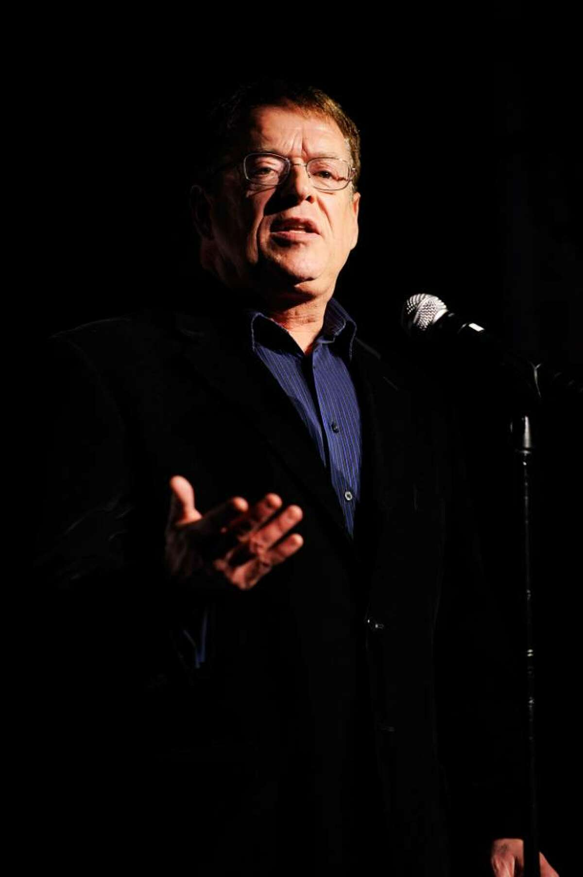 NEW YORK - NOVEMBER 10: Activist Cleve Jones speaks onstage at The 2009 Emery Awards and 30th Anniversary of the Hetrick-Martin Institute at Cipriani, Wall Street on November 10, 2009 in New York City. (Photo by Larry Busacca/Getty Images for Macy's)
