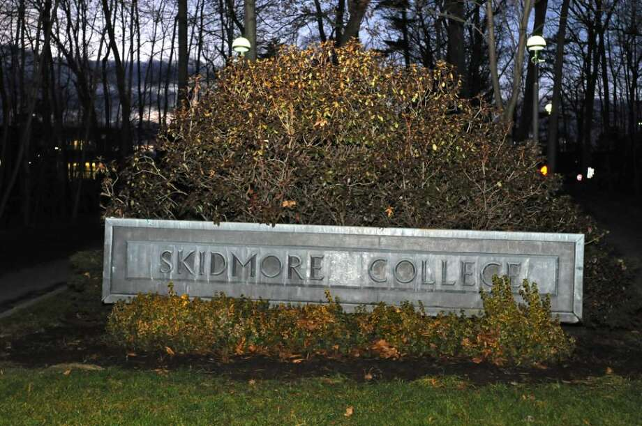 A sign marks one of the entrances to Skidmore College in Saratoga Spring. The school plans to trim its work force through layoffs. (Lori Van Buren / Times Union) Photo: LORI VAN BUREN