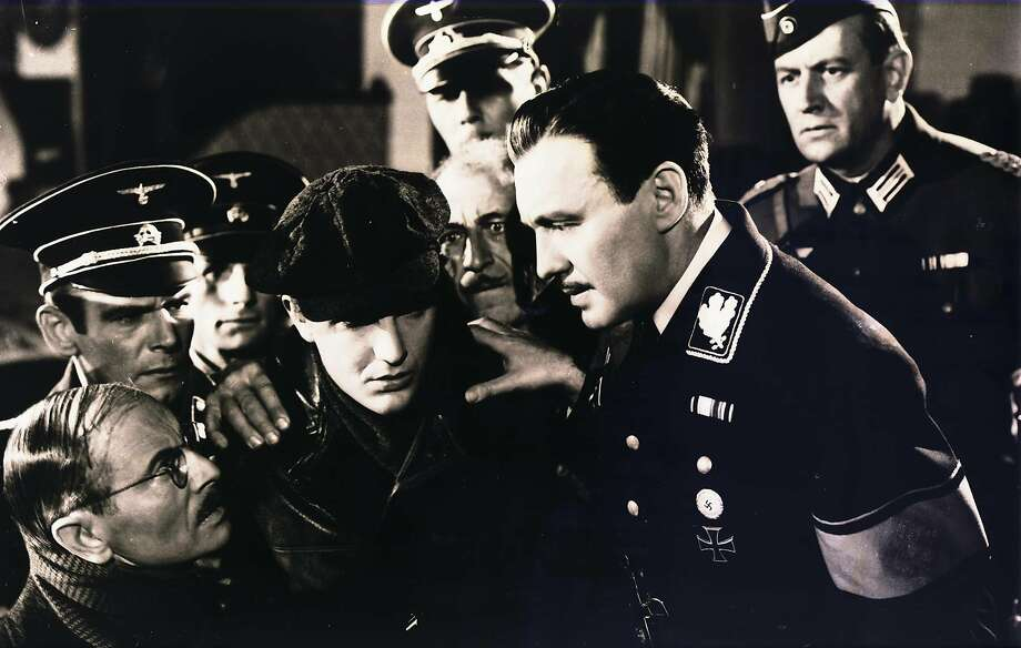 "Jack Benny (right-center) is a Polish actor disguised as a Nazi officer in Ernst Lubitsch's 1942 comedy, ""To Be or Not to Be."" Photo: United Artists 1942"