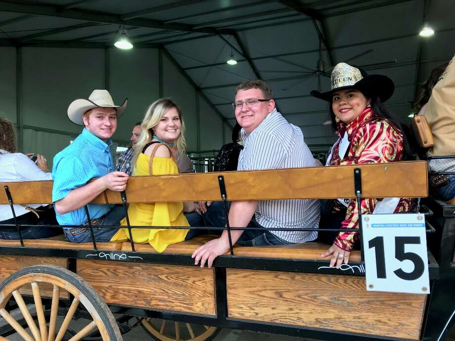 Coldspring FFA's Garrett Richardson and Lourdes Grimaldo represented San Jacinto County at the Houston Livestock Show & Rodeo's Grand Entry this year. Photo: Submitted