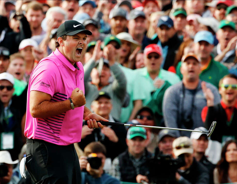 Patrick Reed reacts after winning the Masters golf tournament Sunday, April 8, 2018, in Augusta, Ga. (AP Photo/Charlie Riedel) Photo: Charlie Riedel / Copyright 2018 The Associated Press. All rights reserved.