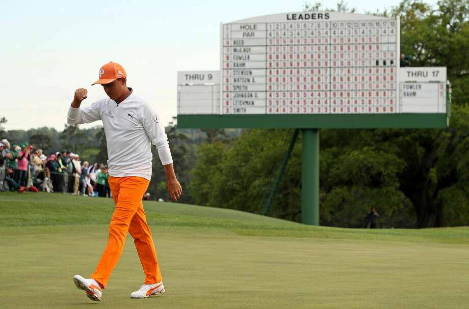 AUGUSTA, GA - APRIL 08: Rickie Fowler of the United States walks off on the 18th green during the final round of the 2018 Masters Tournament at Augusta National Golf Club on April 8, 2018 in Augusta, Georgia.  (Photo by Jamie Squire/Getty Images) Photo: Jamie Squire / Getty Images