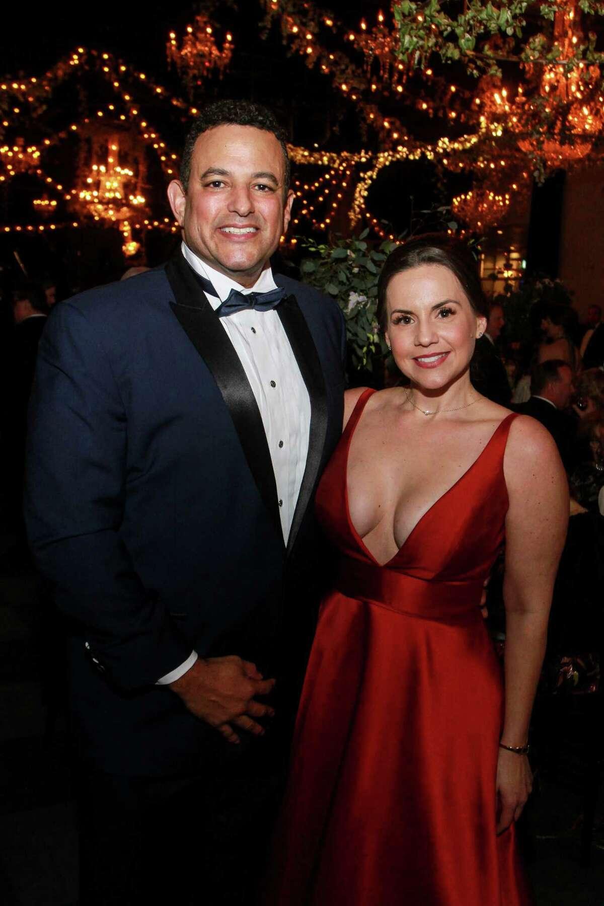 Damon Chargois and Rebekka Peltzman at the Society for the Performing Arts Gala.