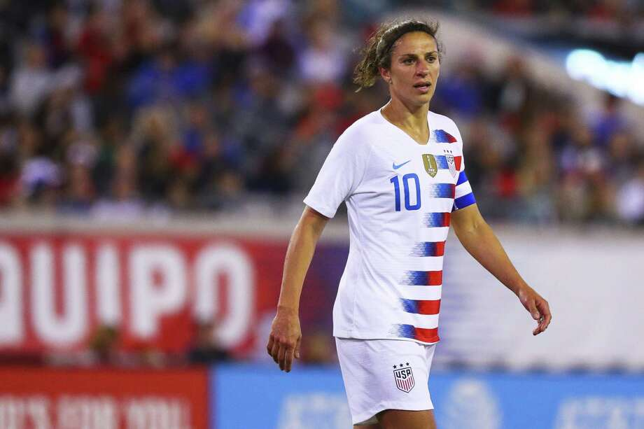 JACKSONVILLE, FL - APRIL 5: Carli Lloyd #10 of United States looks on in the second half against Mexico at Everbank Field on April 5, 2018 in Jacksonville, Florida. (Photo by Logan Bowles/Getty Images) Photo: Logan Bowles / 2018 Getty Images