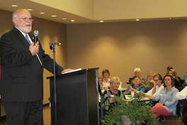 Texas Senator Robert Nichols speaks at the Greater Cleveland Chamber of Commerce luncheon held on April 5. Nichols discussed the growing Texas economy and how the state has been impacted by Hurricane Harvey.