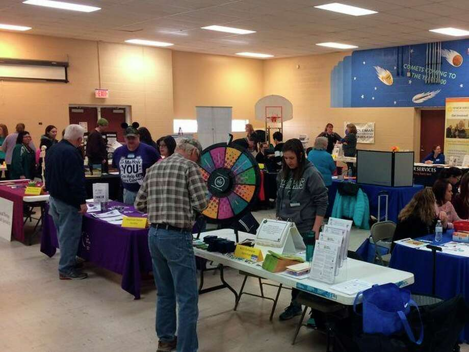 MSU Extension offered a nutrition game during the Community Wellness Health Fair on March 24 at the Coleman Family Center. (Photo provided)