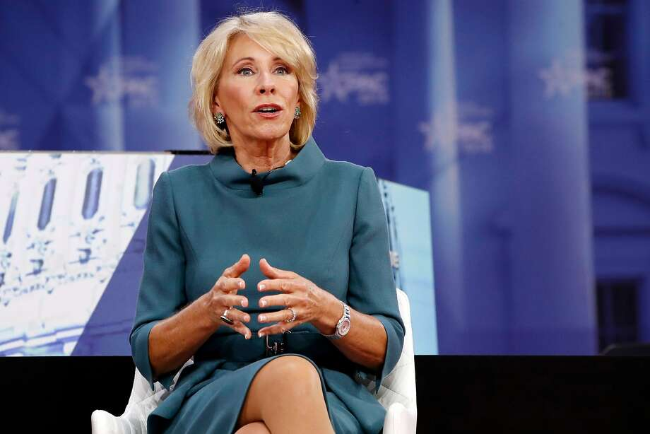 Education Secretary Betsy DeVos speaks during the Conservative Political Action Conference (CPAC), at National Harbor, Md. Photo: Jacquelyn Martin, Associated Press