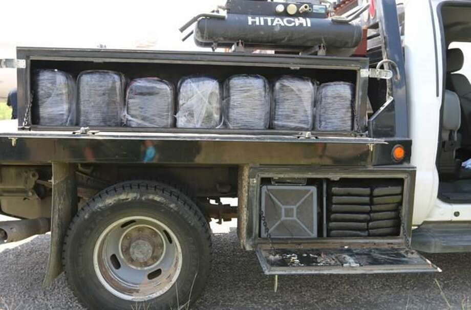 Hebbronville Border Patrol agents seized over 1,200 pounds of marijuana and 66 pounds of cocaine Friday. Photo: Courtesy U.S. Customs And Border Protection