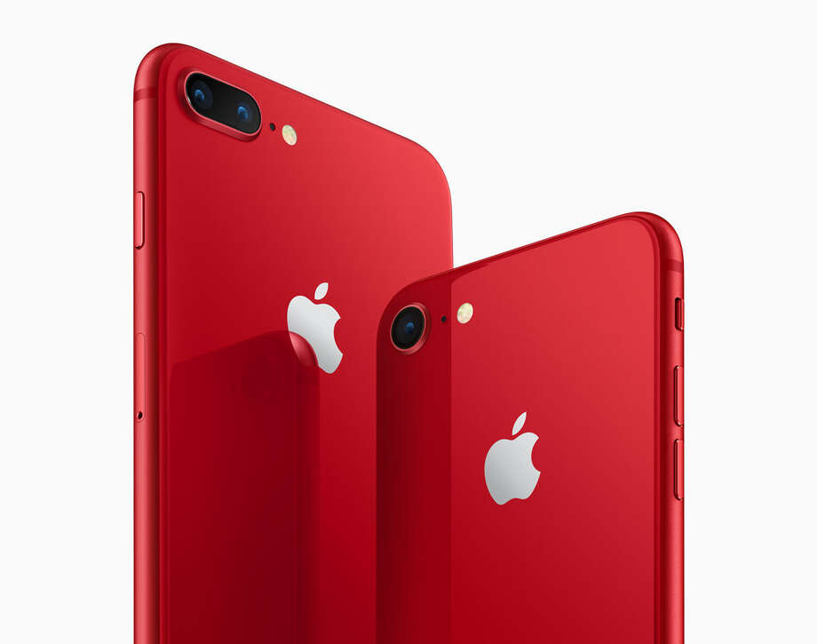 Apple's new Product (RED) iPhone 8 and 8 Plus. Photo: Apple