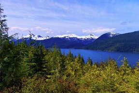 Three Sisters Overlook, Tongass National Forest, near Wrangell, Southeast Alaska USA
