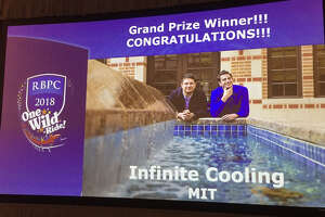 Infinite Cooling from the Massachusetts Institute of Technology emerged as the top startup company in the 2018 Rice Business Plan Competition, taking home nearly $500,000 in cash and prizes. Photo by Jeff Falk.