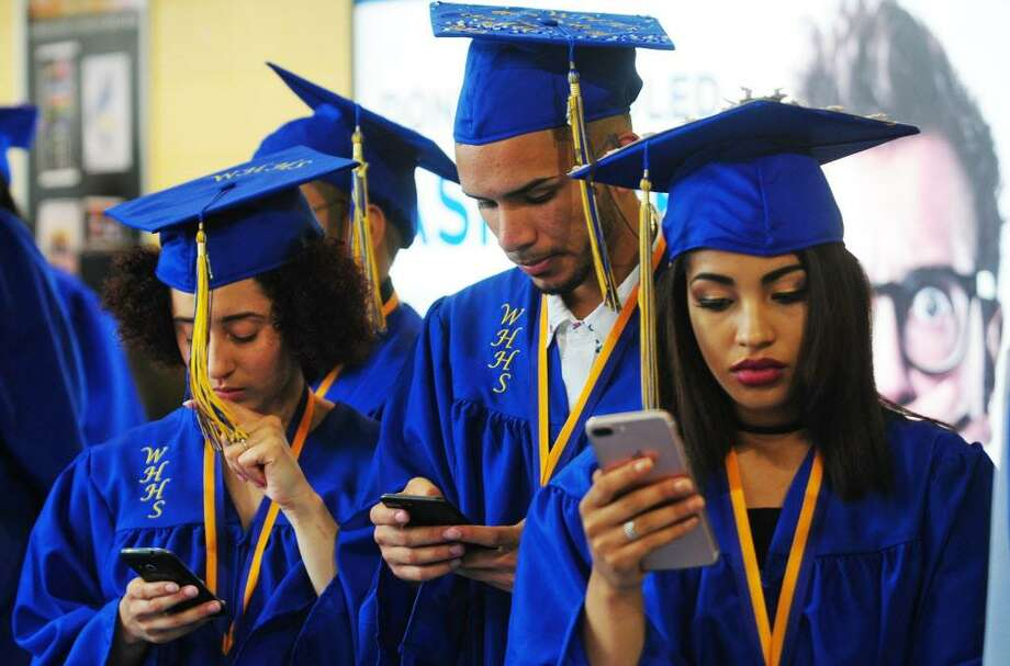 Warren Harding High School's Ninety First Annual Commencement held at the Webster Bank Arena in Bridgeport, Conn., on Tuesday June 20, 2017. Photo: Christian Abraham / Hearst Connecticut Media / Connecticut Post